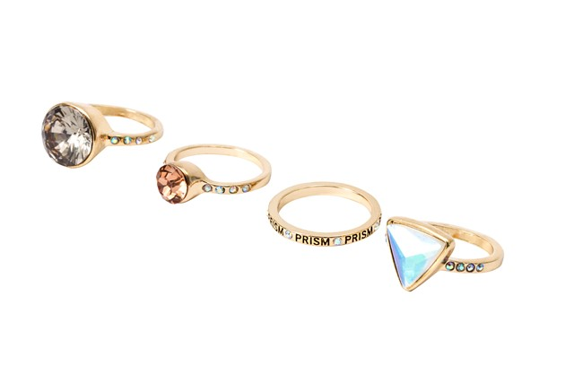 Katy Perry Crystal Gem Stacking Rings Set of 4 - 8,99EUR 7.00GBP 14,90CHF 35,90PLN