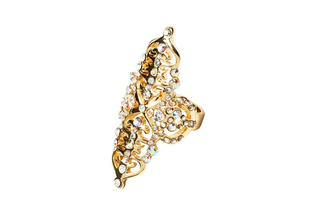 Katy Perry Crystal Gold Filigree Long Ring 8,99EUR 7.00GBP 14,90CHF 35,90PLN