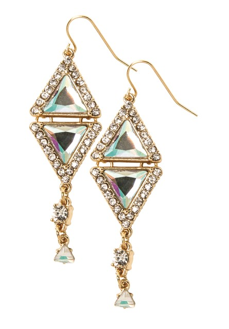 Katy Perry Double PRISM with Rhinestones Drop Earrings Gold 9,99EUR 8.00GBP 16,90CHF 39,90PLN