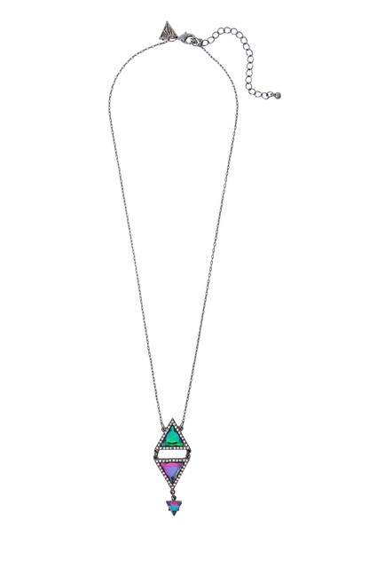 Katy Perry Double PRISM with Rhinestones Pendant Necklace Hematite 9,99EUR 8.00GBP 16,90CHF 39,90PLN