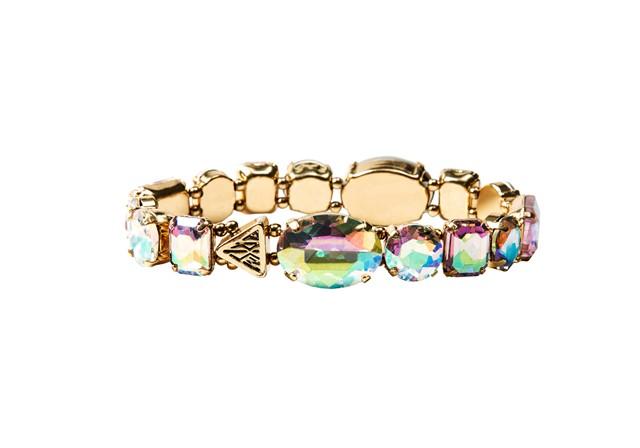 Katy Perry Iridescent Crystal Gems Stretch Bracelet Gold 8,99EUR 7.00GBP 14,90CHF 35,90PLN