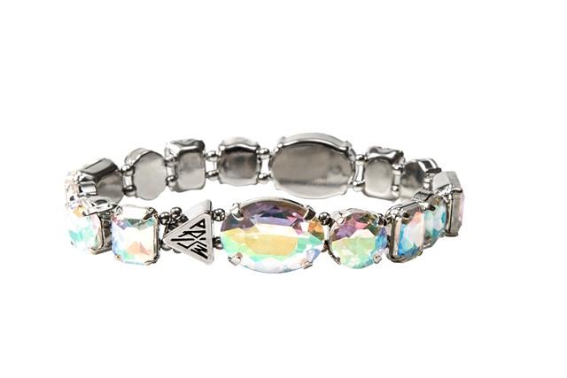 Katy Perry Iridescent Crytal Gems Strect Bracelet Silver 8,99EUR 7.00GBP 14,90CHF 35,90PLN
